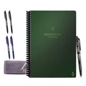 Rocketbook Fusion Smart Executive Reusable Notebook, Green