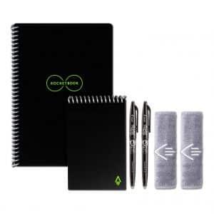 Rocketbook Executive Reusable Smart Notebooks, Black