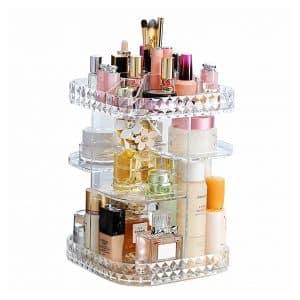 Makeup Organizer 360-Degree Rotating Cosmetic Storage