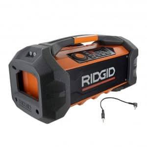 Ridged 18V Lithium-Ion Cordless/Corded Jobsite Radio, R84087