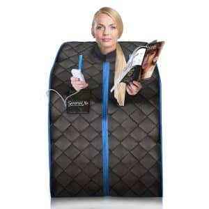 SereneLife Portable One Person Sauna with a Portable Chair