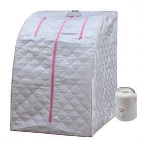 DSS-404 Lightweight Steam Sauna for Home Relaxation – Pink