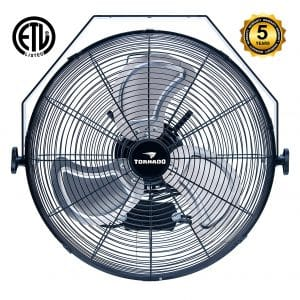 Tornado 16-Inch Digital Mount Fan