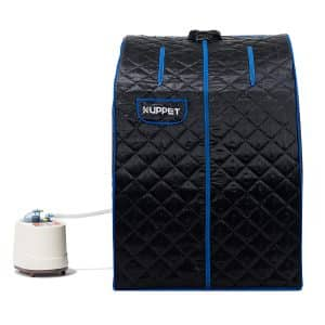 KUPPET Portable Steam Sauna with Chair and Remote Control (Black)