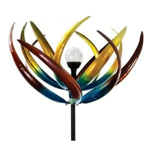 The Original Solar Multi-Color Tulip Wind Spinner