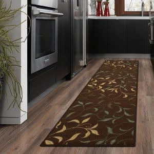 Ottomanson Contemporary Leaves Design Modern Runner Rug