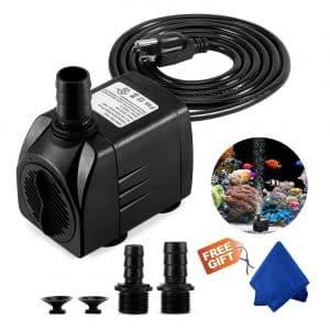Fountain Pump, 400GPH Submersible Water Pump