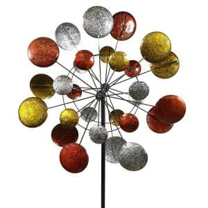 Jumbo Modern Art Kinetic Quaruple Wind Sculpture Spinner