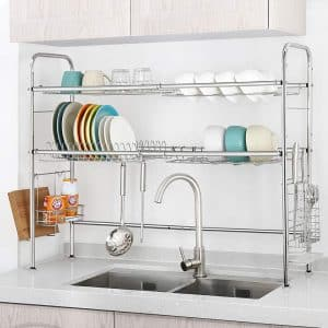 NEX Over The Sink 2 Tier Dish Racks