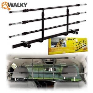Walky Dog Adjustable Car Barrier with an Adjustable Headrest