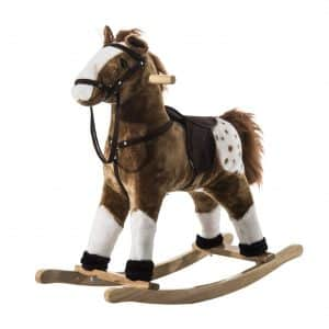 Qaba Kids Plush Rocking Horse