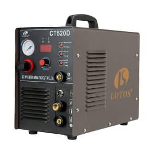 Lotos CT520D 3 in 1 Combo Air Plasma Welding Machine, Brown
