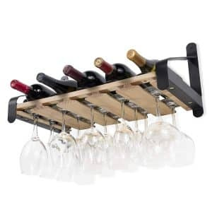 Rustic State Wall Mounted Wood Wine Rack