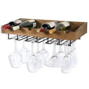 ArtifactDesign Wall Mounted Wood Wine Rack