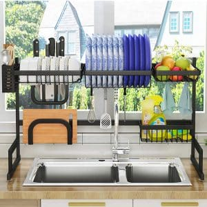 "PUSDON Over Sink(32"") Dish Drying Rack"