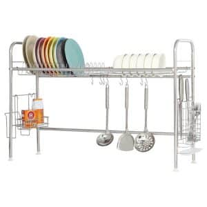 RZChome 2-Tier Stainless Steel Dish Drying Rack