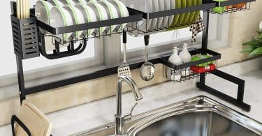 over the sink dish racks