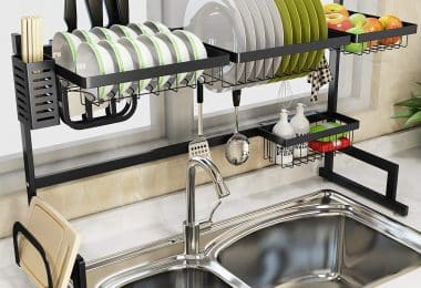 over the sink dish racks