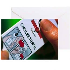 CafePress Blood Cholesterol Testing Green Cards