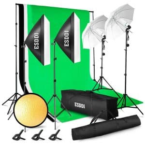 ESDDI Lighting Kit with Background Support System