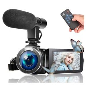LINNSE Video Vlogging Full HD 1080P Camera Camcorder