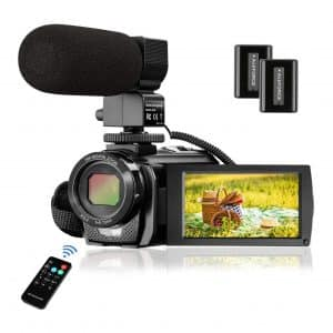 MELCAM 24MP YouTube Camera Camcorder with Microphone
