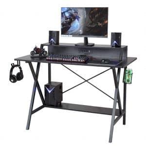 """Sedeta Gaming Desk, 47"""" Gaming Table"""
