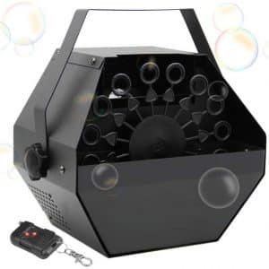 ATDAWN Portable Bubble Machine with High Output (Black)