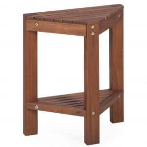 Belham Living Corner Teak Shower Bench
