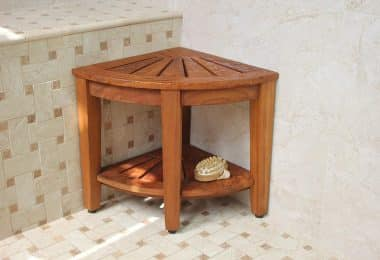 teak corner shower benches