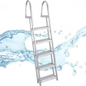 RecPro 5-Step Marine Pontoon Boat Ladder