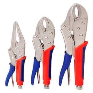 WORKPRO 3-Piece Locking Pliers Set