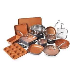 Gotham Steel Kitchen Cookware Bakeware Set