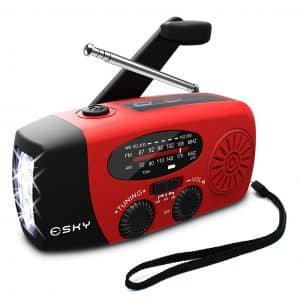 Esky Hand Crank Self Powered AM/FM/NOAA generator