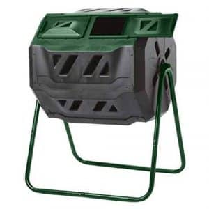 Exaco Trading Company 43 Gallon Compost Tumbler on 2-Leg Stand