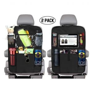 "KNGUVTH Backseat Car Organizer with 10"" Tablet Holder (2 Pack)"