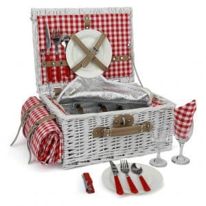INNO STAGE Romantic Wicker Picnic Basket