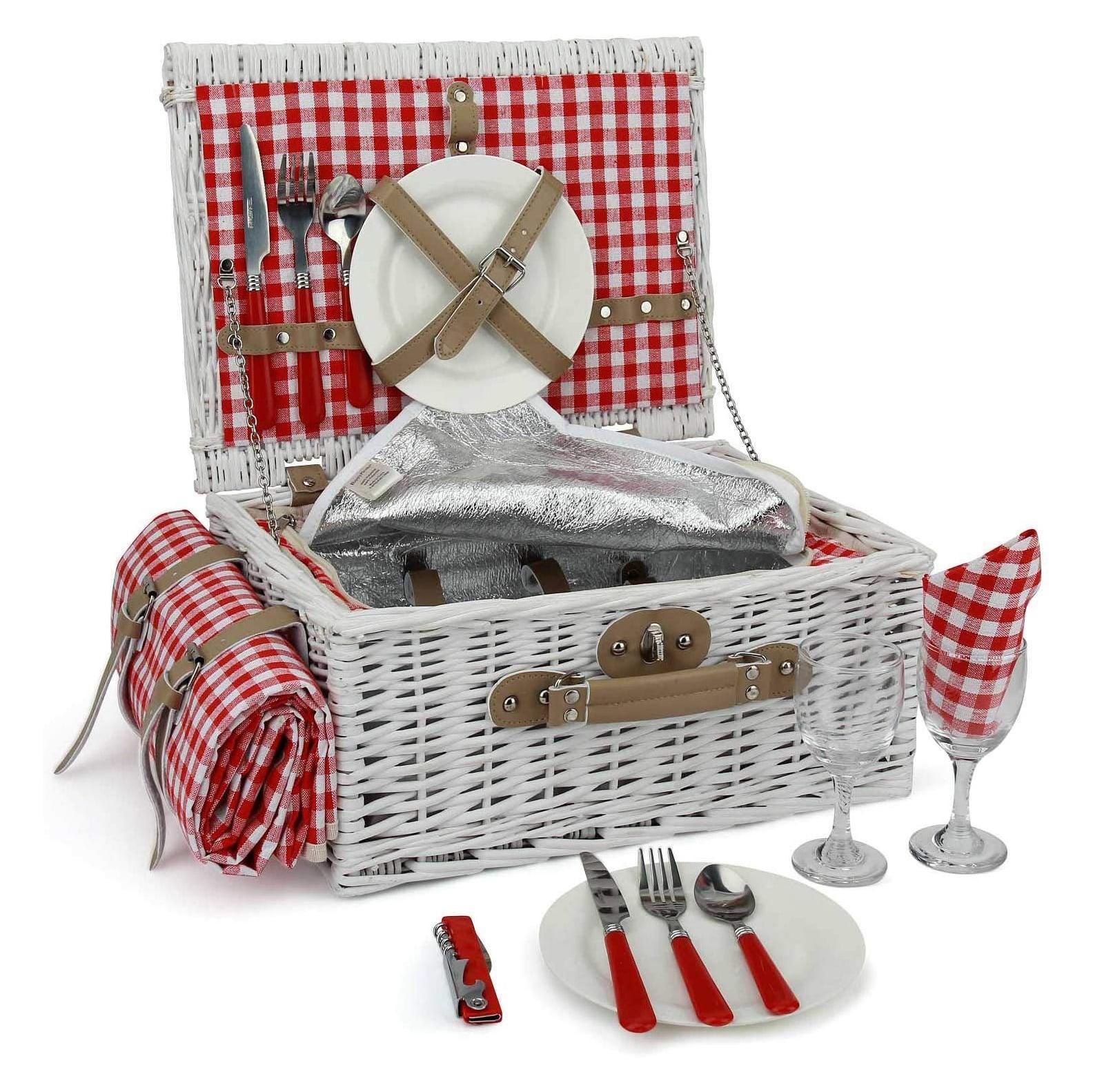 INNO STAGE Romantic Wicker Picnic Basket