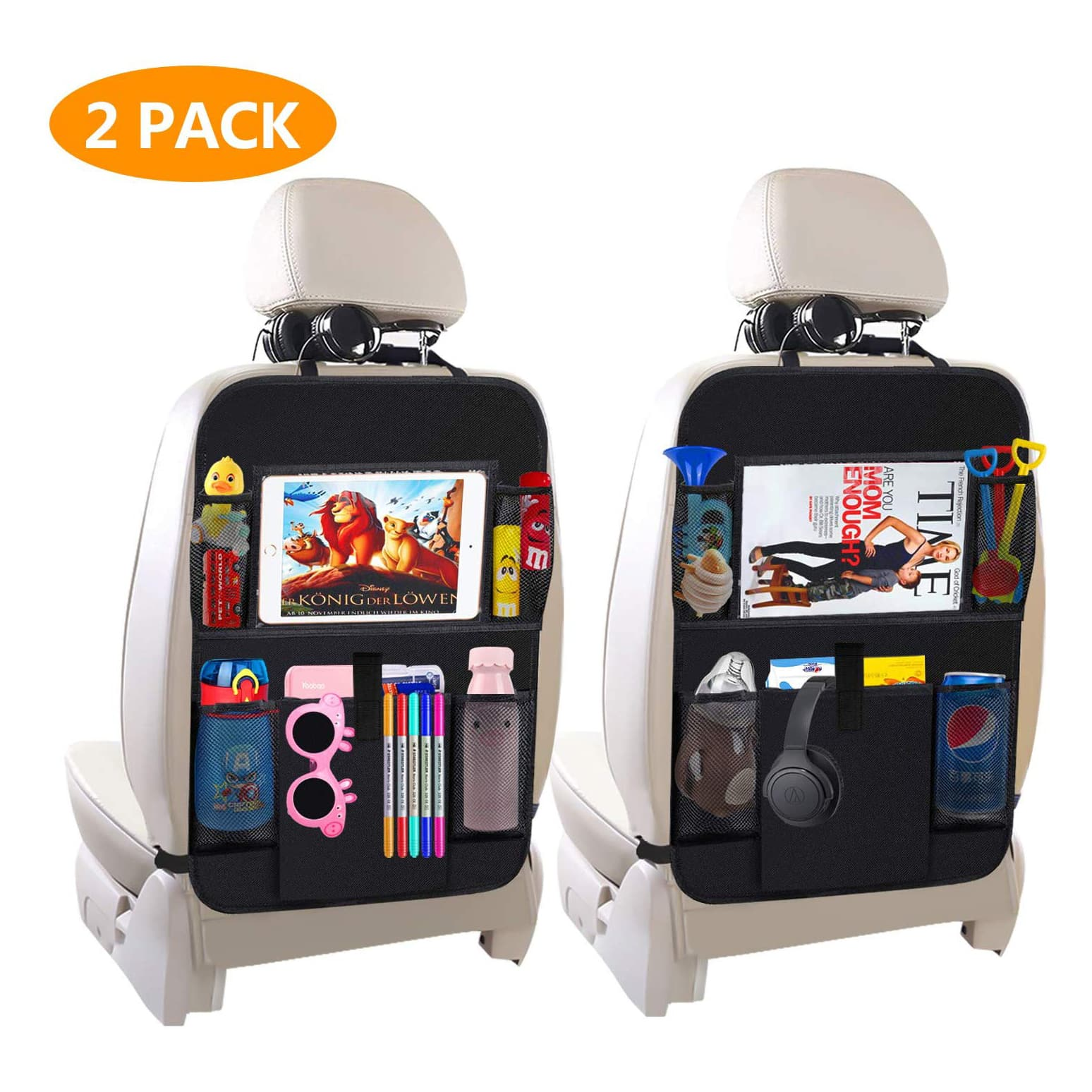Pettry-link Car Backseat Organizer (2 pack)