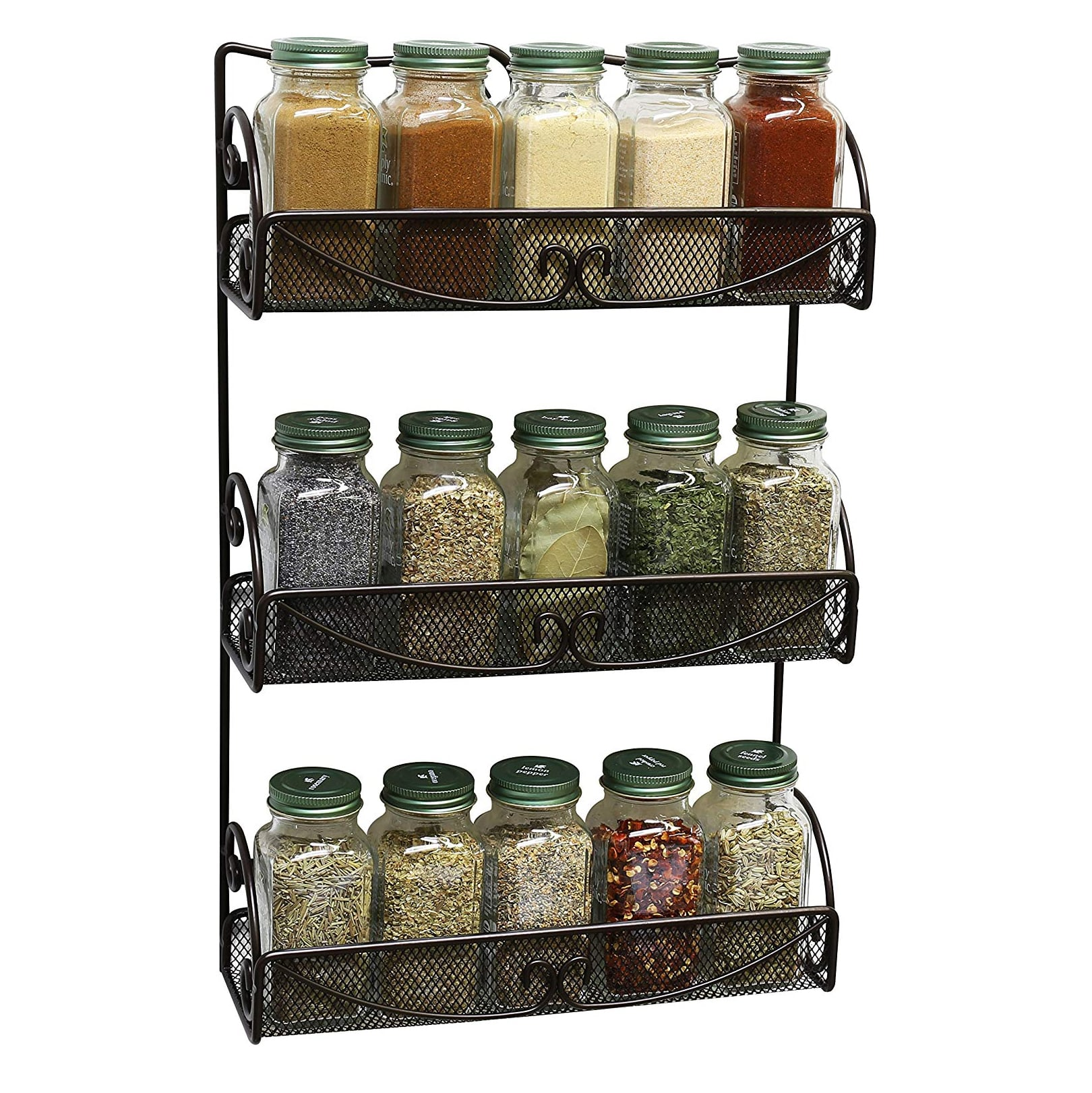 DecoBros 3-Tier Wall Mounted Spice Rack