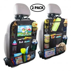 MZTDYTL Car Backseat Organizer w/ Tablet Holder and 9 Storage Pockets (2 Pack)
