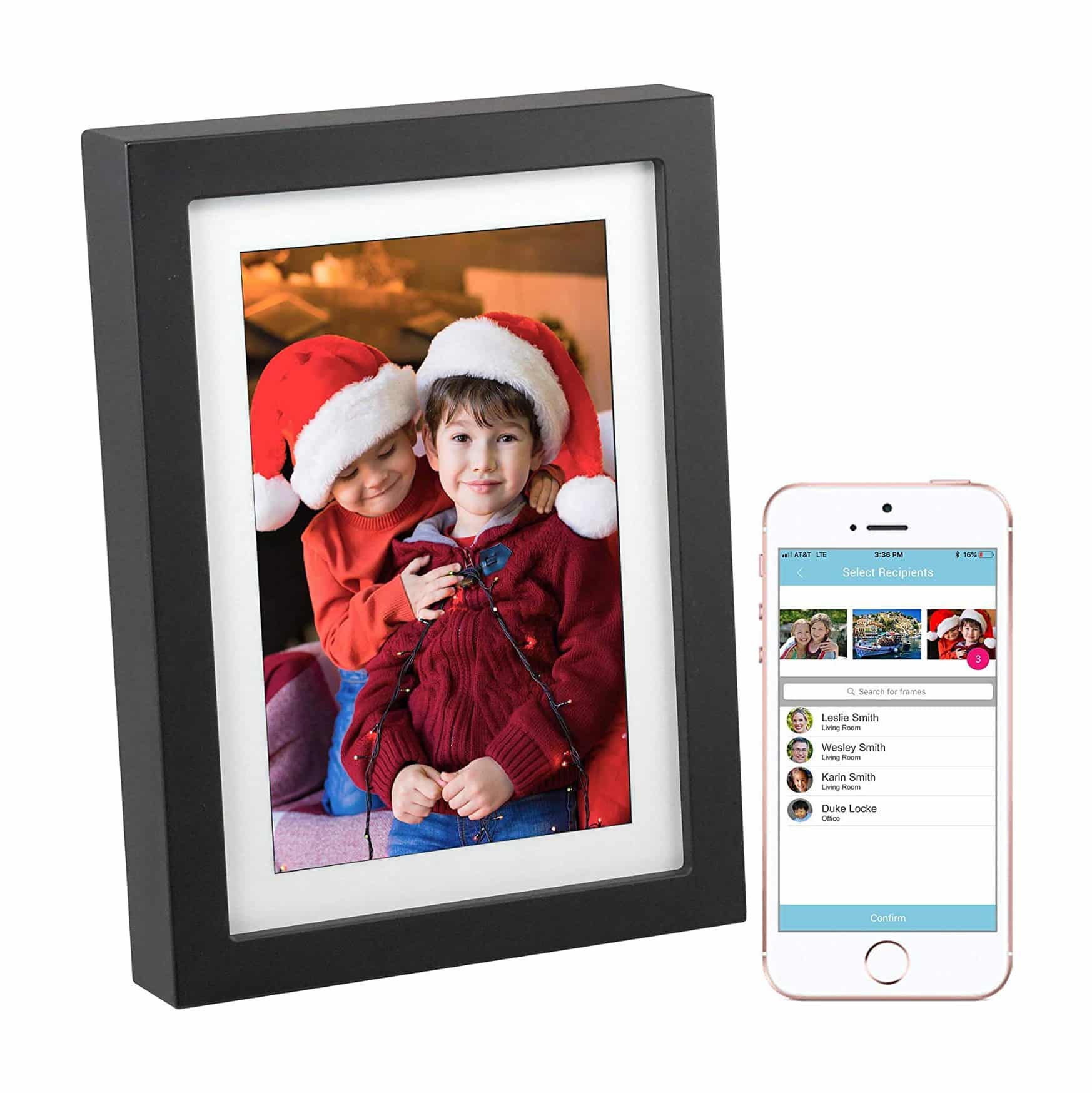 PhotoSpring 8 (16GB) 8-inch WiFi Cloud Digital Picture Frame