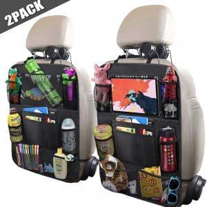 "ULEEKA Car Backseat Organizer with a 10"" Tablet Holder, Black"