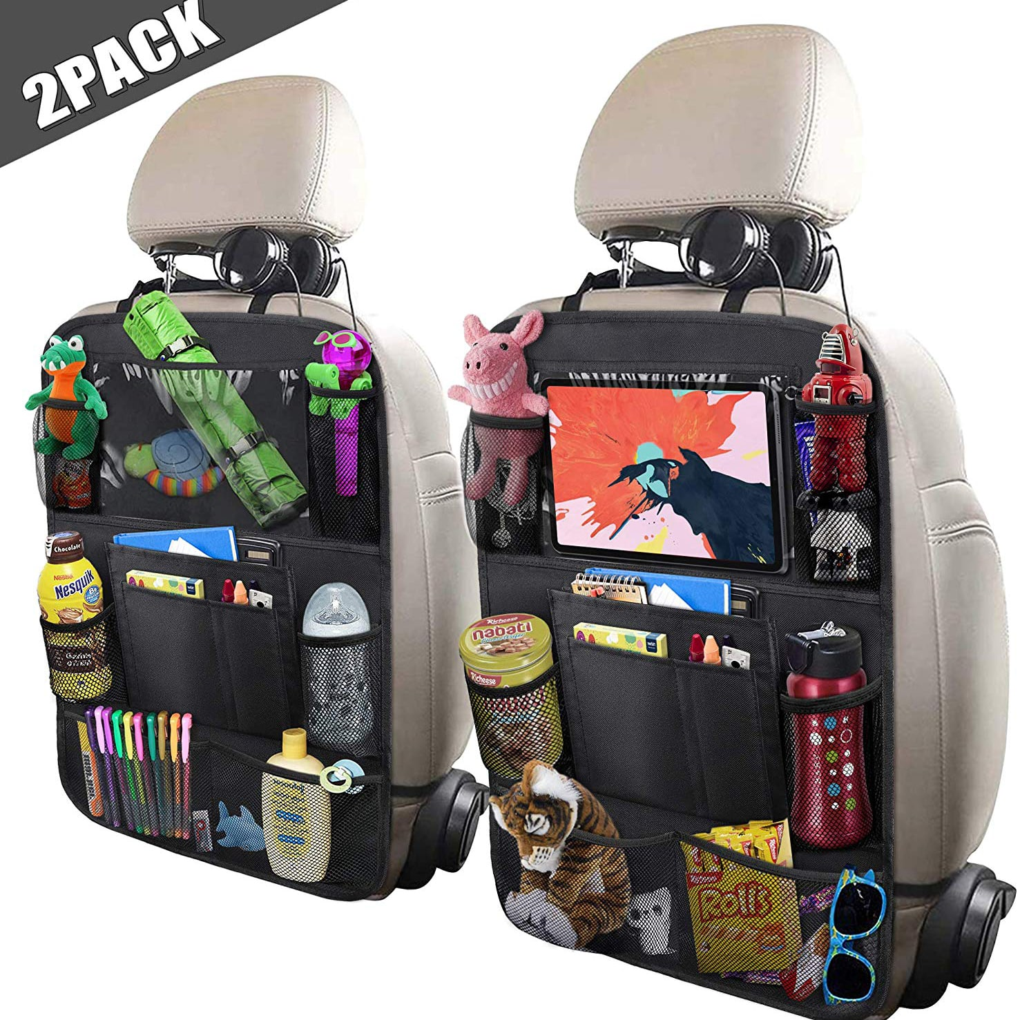 ULEEKA Car Backseat Organizer with a 10