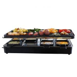 Milliard Raclette Grill Party or Family Get Together Granite Cooking Stone and Grilling Surface