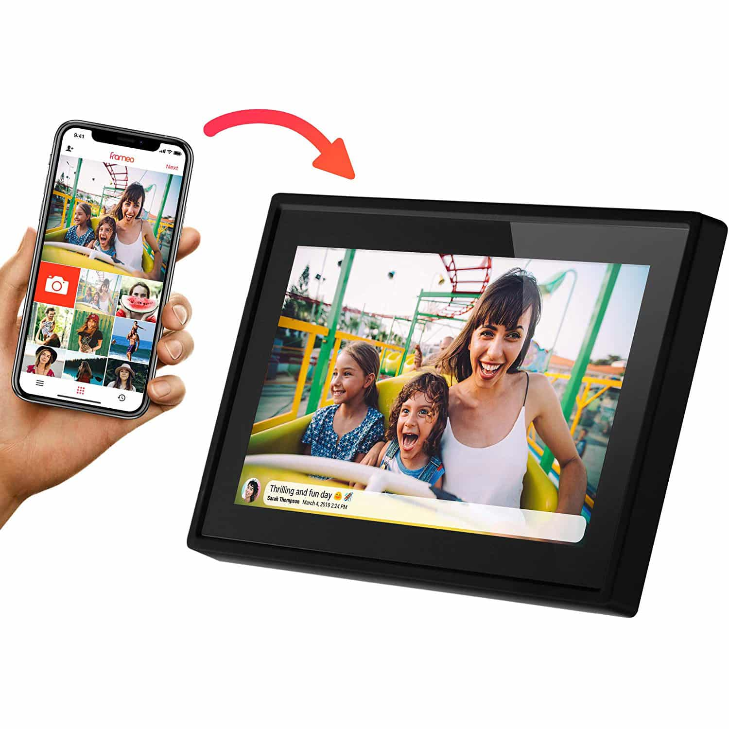Feelcare 10 Inch 16GB Smart WiFi Digital Picture Frame