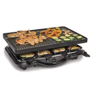 Hamilton Beach Raclette Electric Grill 8-Serving for Family Fun and Parties, Black