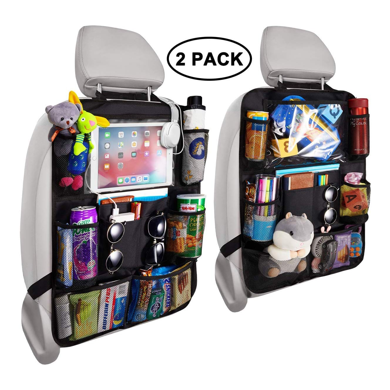 Reserwa Backseat Car Organizer with a Tablet Holder & Nine Storage Pockets