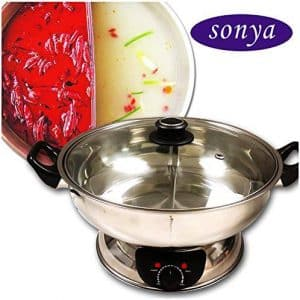 Sonya Electric Shabu Shabu Pot with Divider