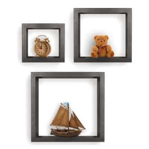 Greenco Set of 3 Floating Cube Shelves